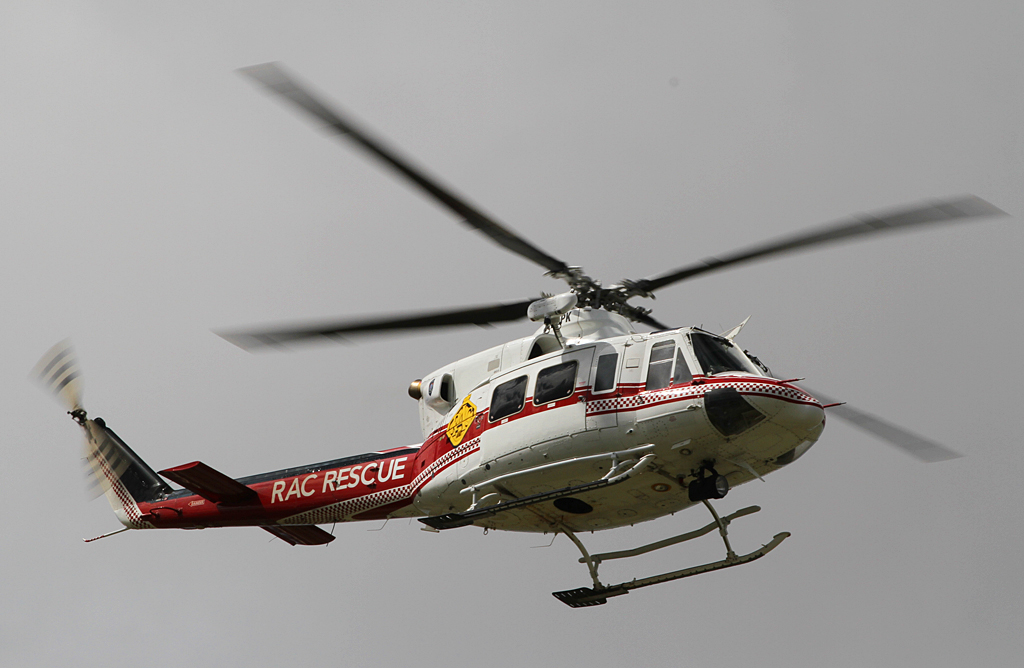 VH-EPK Bell 412EP (cn 36100) of CHC Helicopters, on lease to the WA Department of Fire and Emergency Services as 'RAC RESCUE' at Jandakot Airport – Sun 8 September 2013