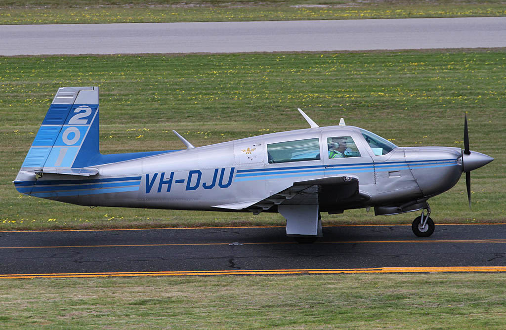 VH-DJU Mooney M20J 201 (MSN 24-1075) owned by James Sturrock, at Jandakot Airport – Sun 15 September 2013.
