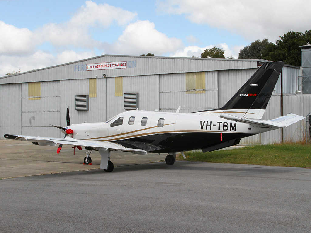 VH-TBM SOCATA TBM-850 (700N) (MSN 658) owned by Starmind Investments Pty Ltd at Jandakot Airport – Sun 15 September 2013.