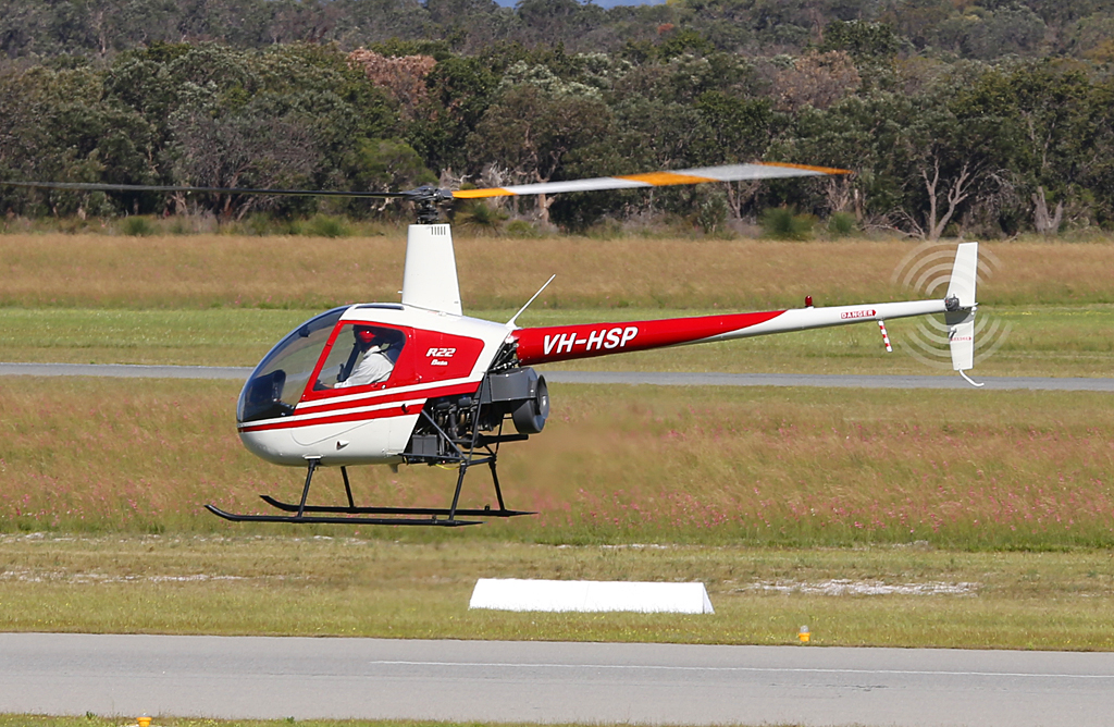 VH-HSP Robinson R22 Beta (MSN 1109) of Thomas Talbot of Brunswick Junction, WA at Jandakot Airport – Mon 30 September 2013.