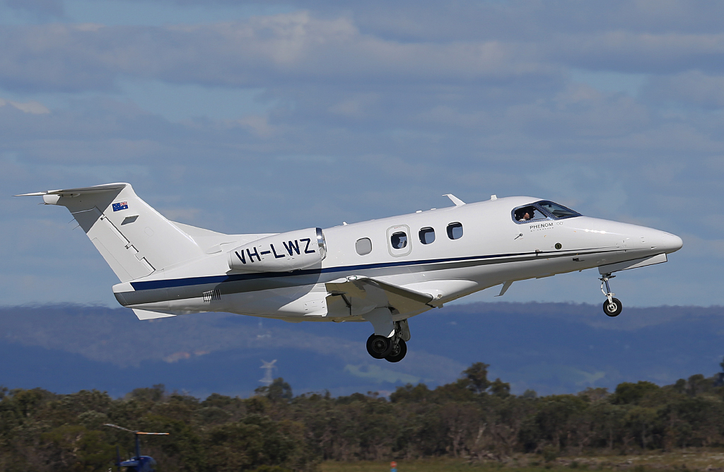 VH-LWZ Embraer 500 Phenom 100 (MSN 50000306) of China Southern WA Flying College (operated by Revesco Aviation), at Jandakot Airport – Mon 30 September 2013.