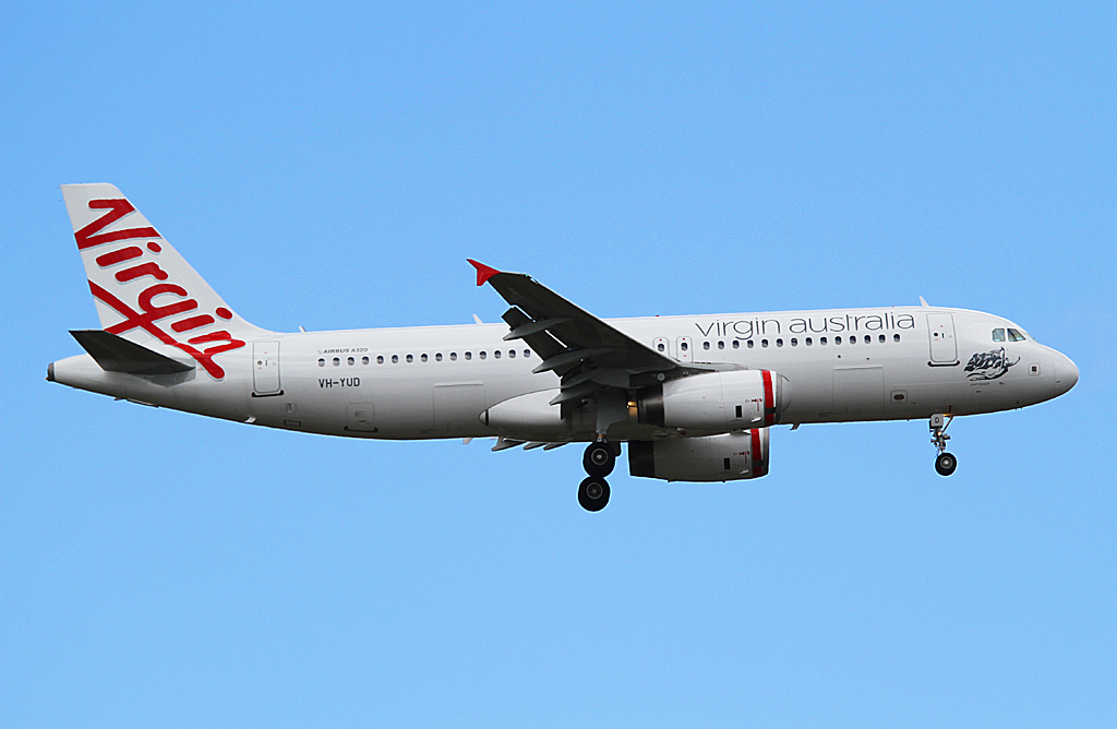 "VH-YUD Airbus A320-232 (MSN 1922) of Virgin Australia Regional Airlines (leased from BOC Aviation), named ""Port Beach"" at Perth Airport – Mon 30 September 2013"