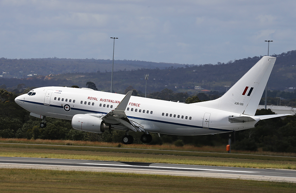 A36-001 Boeing 737-7DT (BBJ) (cn 30829/738) of 34 Squadron, Royal Australian Air Force, based at RAAF Fairbairn, Canberra, ACT.