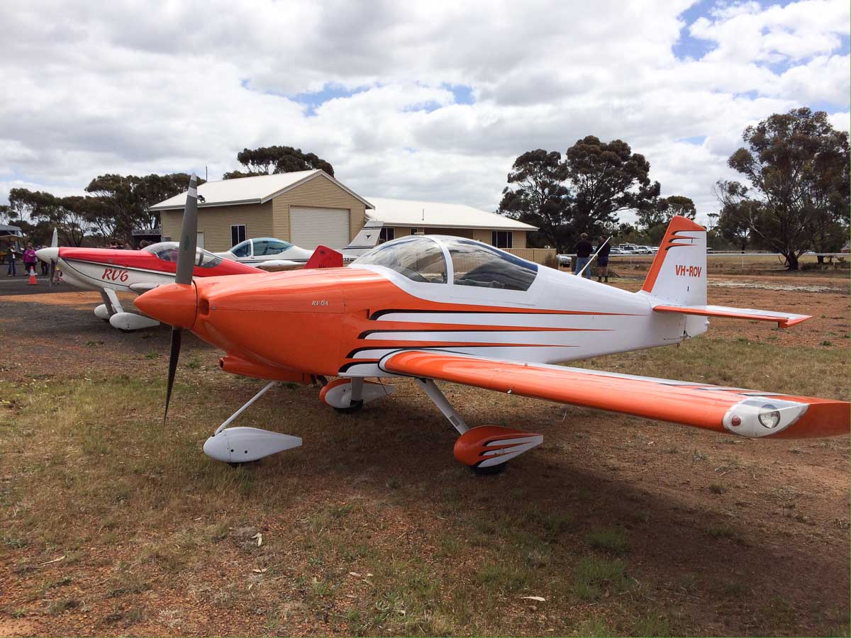 VH-ROV Vans RV-6A (MSN W197) owned by Anthony Miller at New Runway Opening Fly In, Wagin Airfield - Sat 12 October 2013.