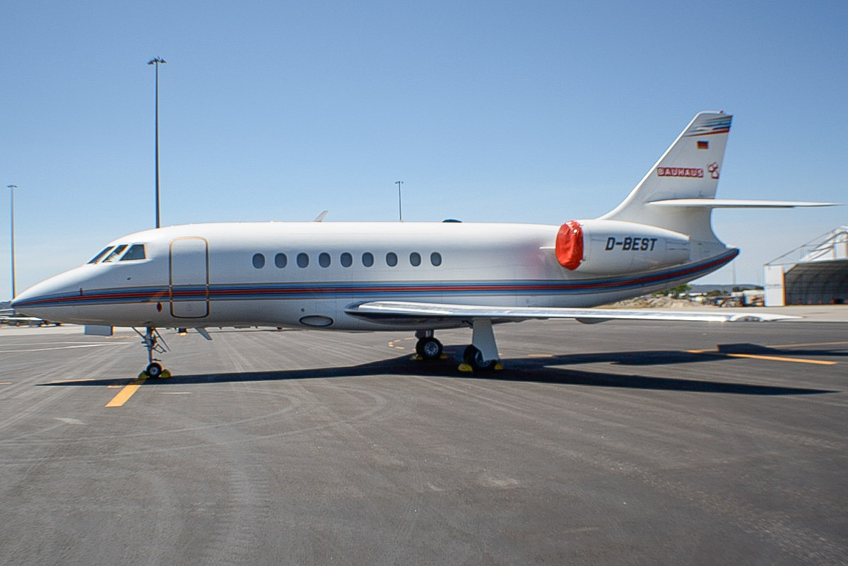 D-BEST Dassault Falcon 2000 (MSN 050) of Bauhaus (registered to Bahag Baus Handelsgesellschaft), at Perth Airport – Sat 9 November 2013.