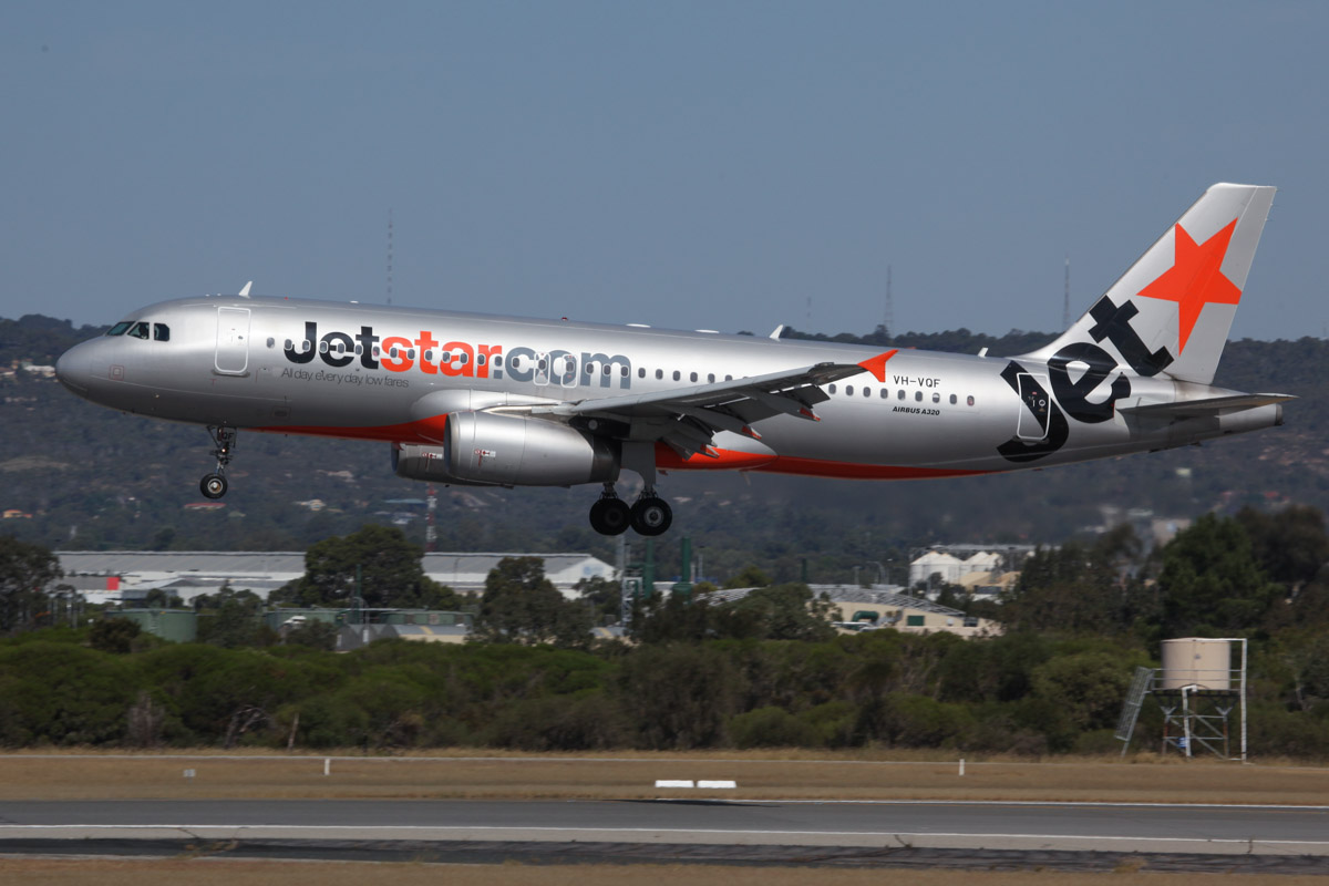 VH-VQF Airbus A320-232 (MSN 3474) of Jetstar, at Perth Airport - Sun 10 November 2013.