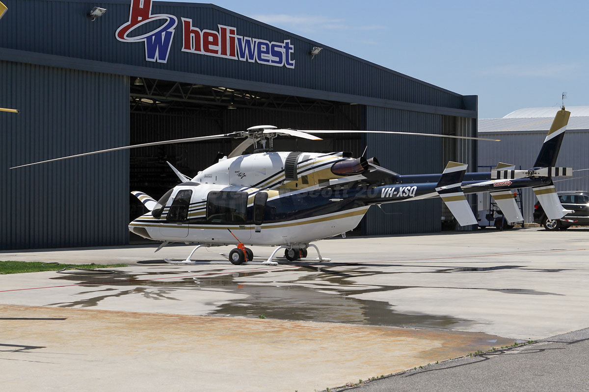 VH-XSQ Bell 427 (MSN 56010) owned by Heliwest Leasing Pty Ltd, at Jandakot Airport – Mon 11 November 2013.