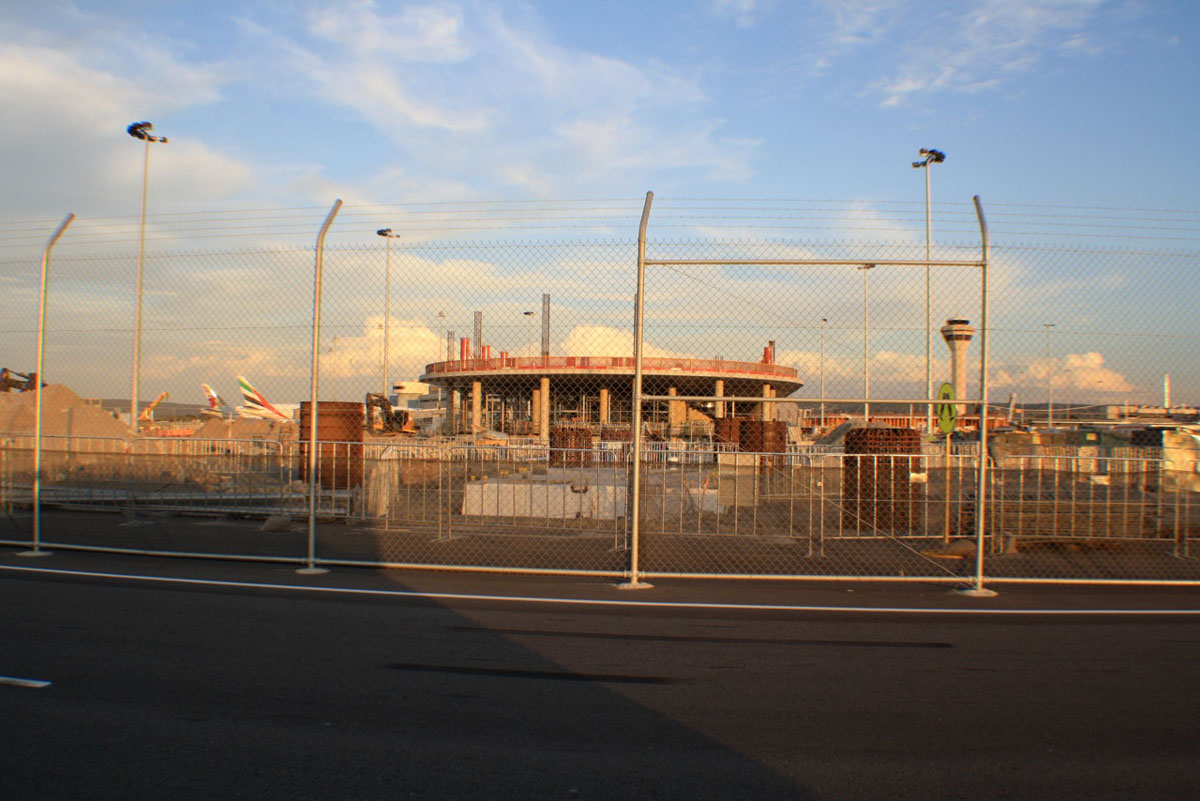 Domestic Pier under construction at Terminal 1, Perth Airport – Sat 16 November 2013.