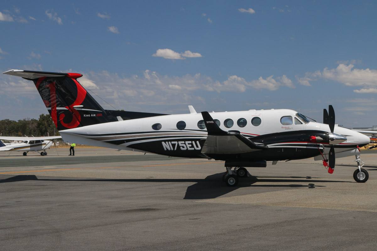 N175EU Beech B200GT King Air 250 (MSN BY-175) owned by Beechcraft Corp, Wichita, Kansas, USA, at Jandakot Airport – Thu 21 November 2013.