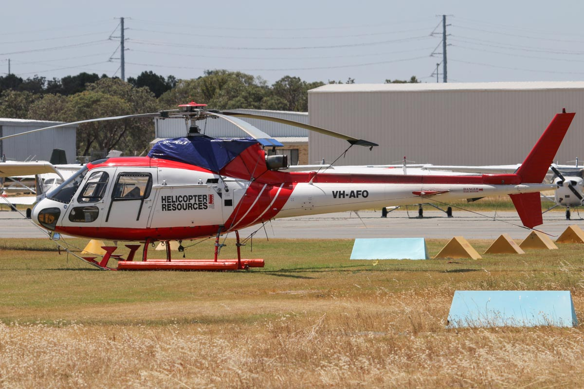 VH-AFO Eurocopter AS350B Squirrel (MSN 1105) of Helicopter Resources, at Jandakot Airport - Thu 21 November 2013.