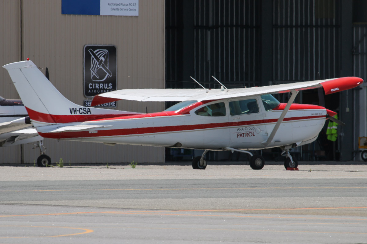 VH-CSA Cessna R182 Skylane RG II (MSN R18201820) of Aviation Utilities Pty Ltd, Camden, NSW, operated for APA Group, at Jandakot Airport - Thu 21 November 2013.