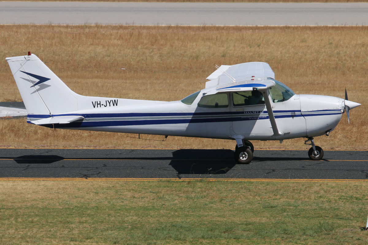 VH-JYW Cessna 172P Skyhawk II (MSN 17275344) owned by Jandakot Flight Centre, with International Aviation Academy of Australia titles, at Jandakot Airport - Thu 21 November 2013.