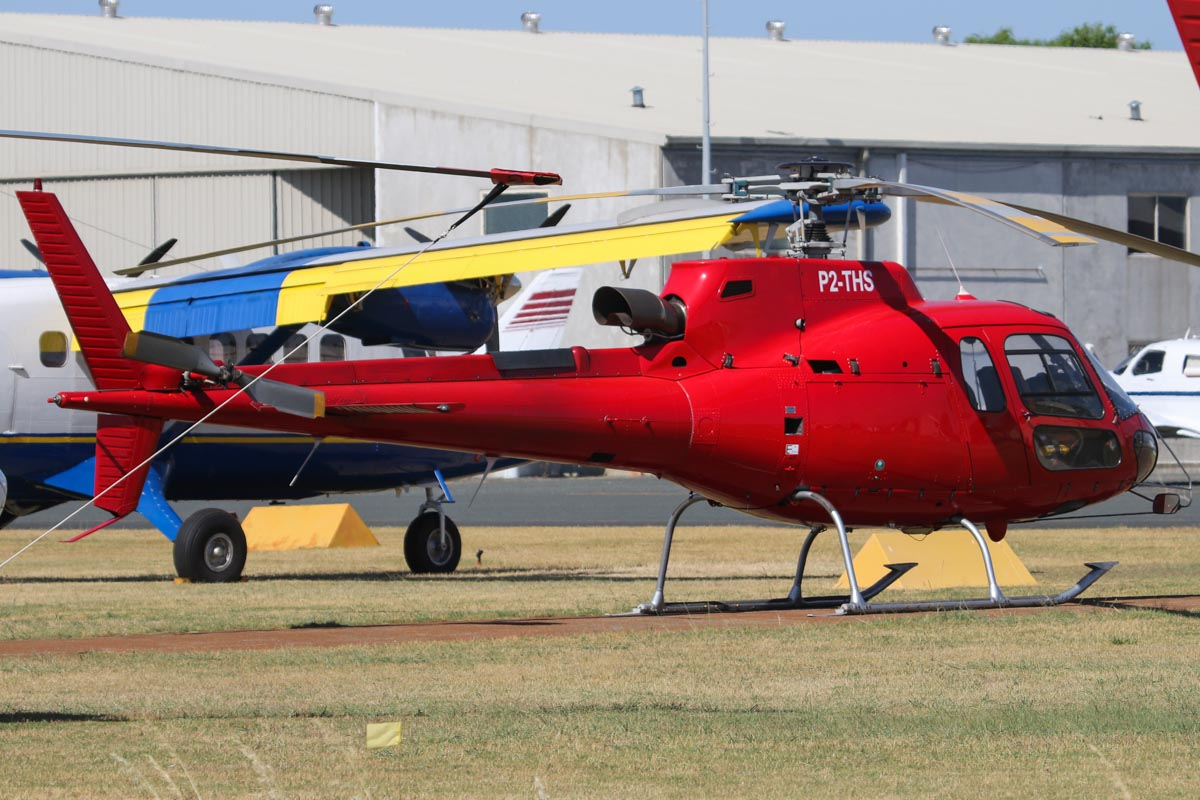 P2-THS Eurocopter AS350B3 Squirrel (MSN 3271) owned by Ian White and Andy Hoare, Melbourne, VIC at Jandakot Airport – Sat 23 November 2013.