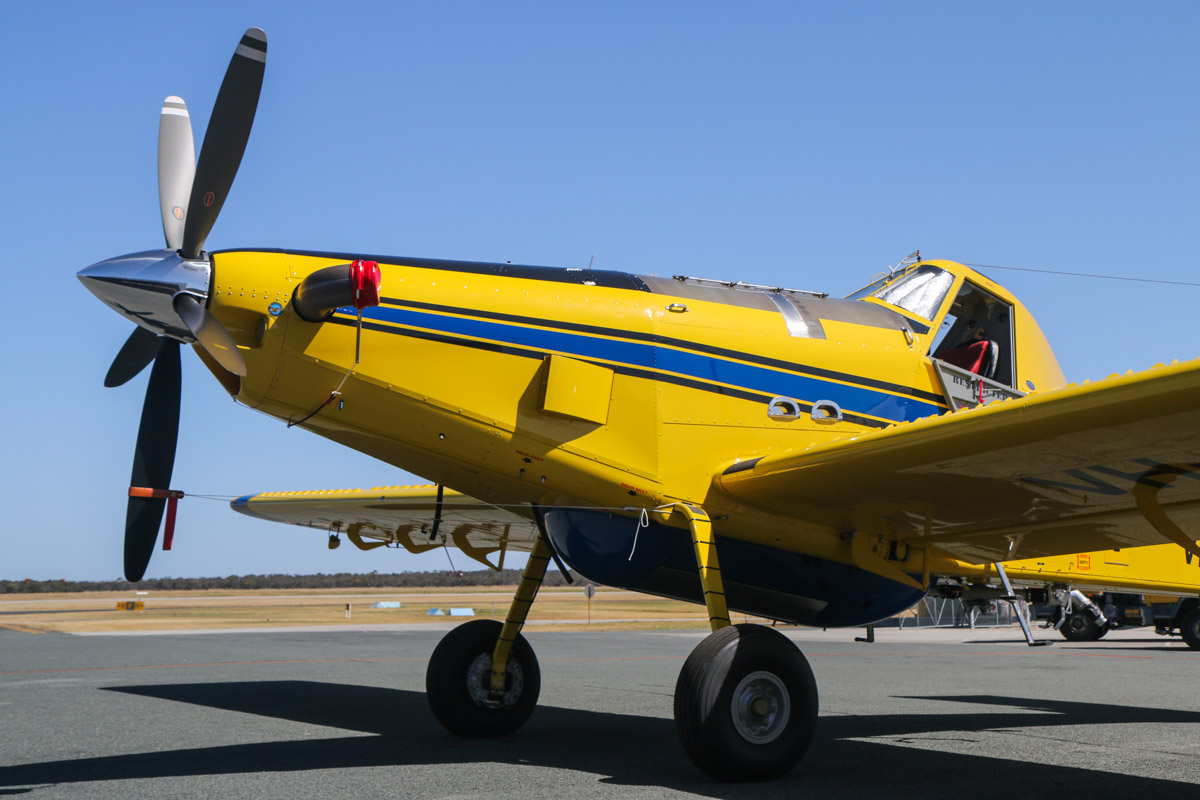 "VH-NID / BOMBER612 Air Tractor AT-802AF (MSN 802A-0523), named ""The Boss"", owned by Dunn Aviation, leased to Department of Fire and Emergency Services, at Jandakot Airport - Tue 3 December 2013."