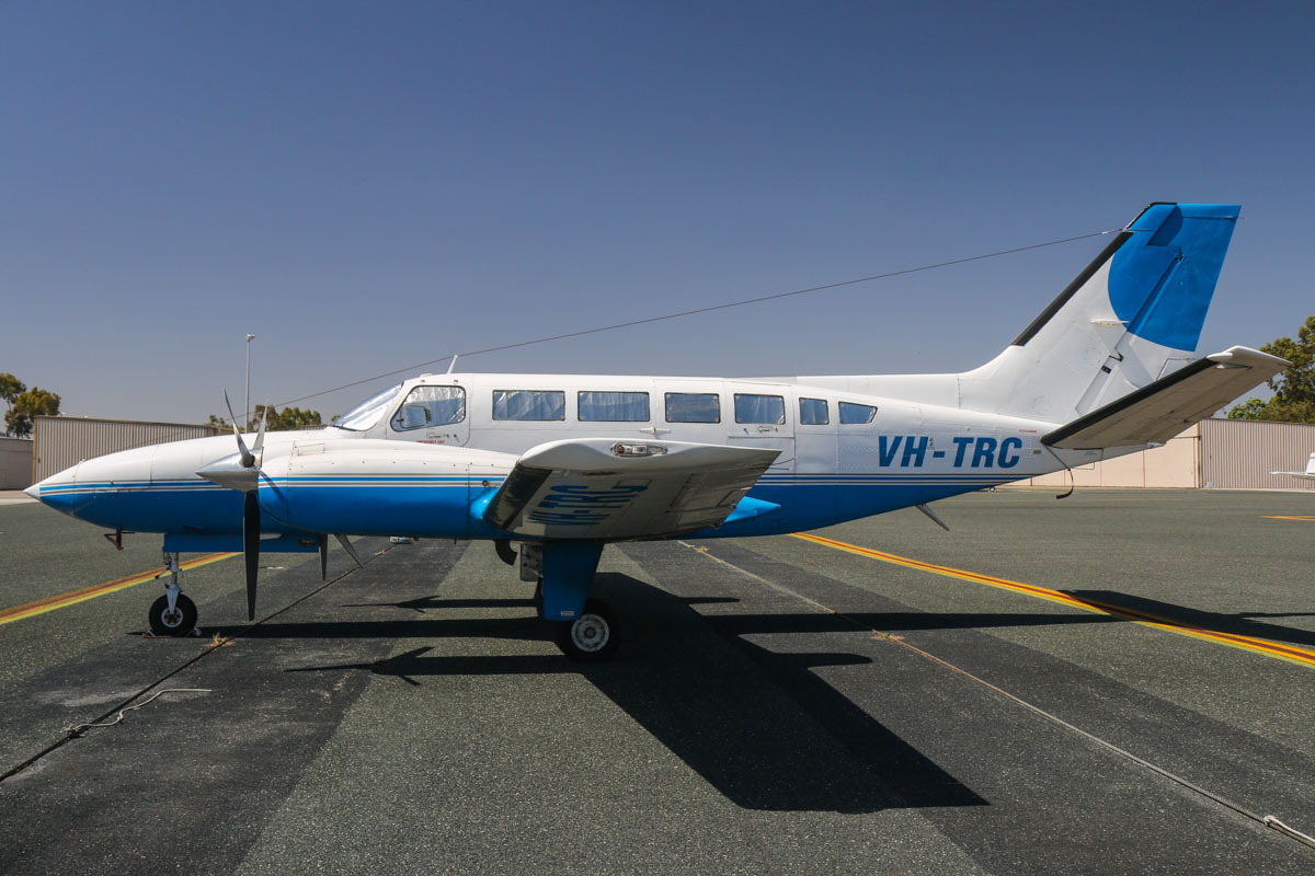 VH-TRC Cessna 404 Titan (MSN 404-0129) owned by Aerotune Pty Ltd, of Woy Woy, NSW, at Jandakot Airport – Tue 3 December 2013