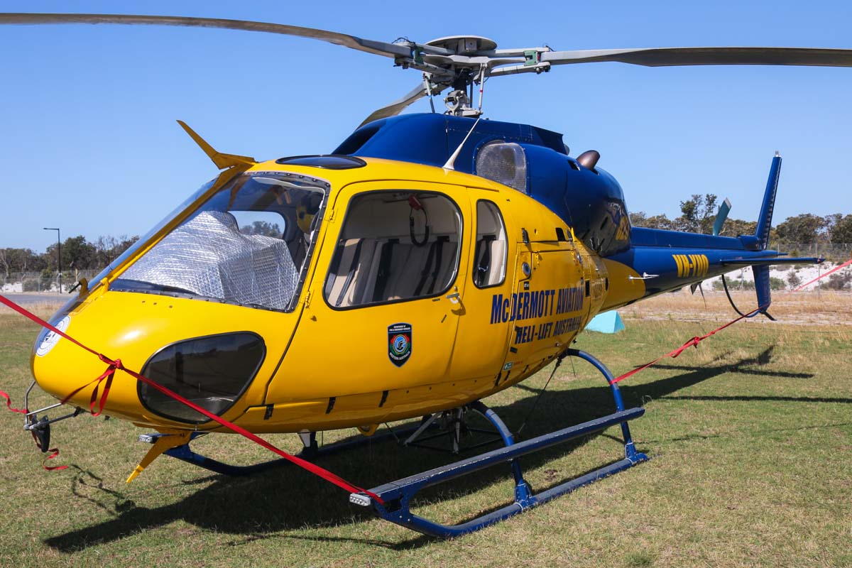 VH-YUQ / FIREBIRD623 Eurocopter AS355F-1 Twin Squirrel (MSN 5057) owned by McDermott Aviation, on lease to the WA Department of Fire and Emergency Services, at Jandakot Airport – Tue 3 December 2013