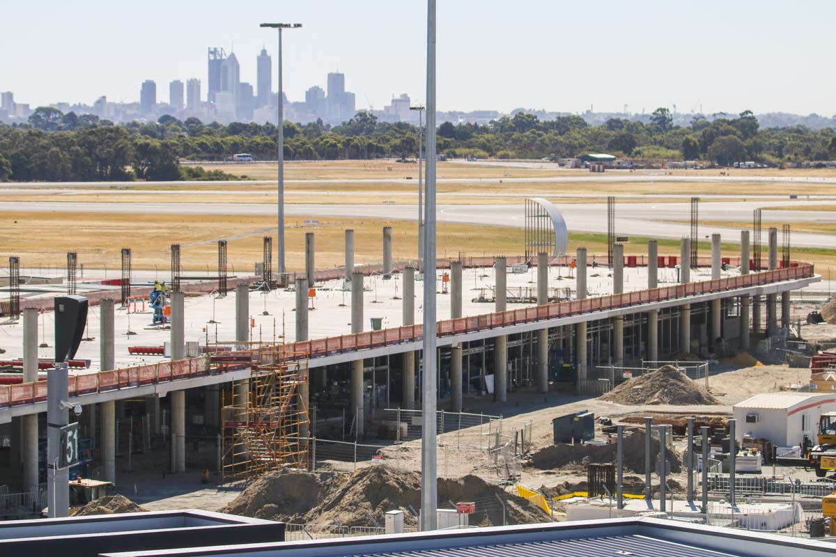 Domestic Pier under construction at Terminal 1, Perth Airport – Thu 12 December 2013