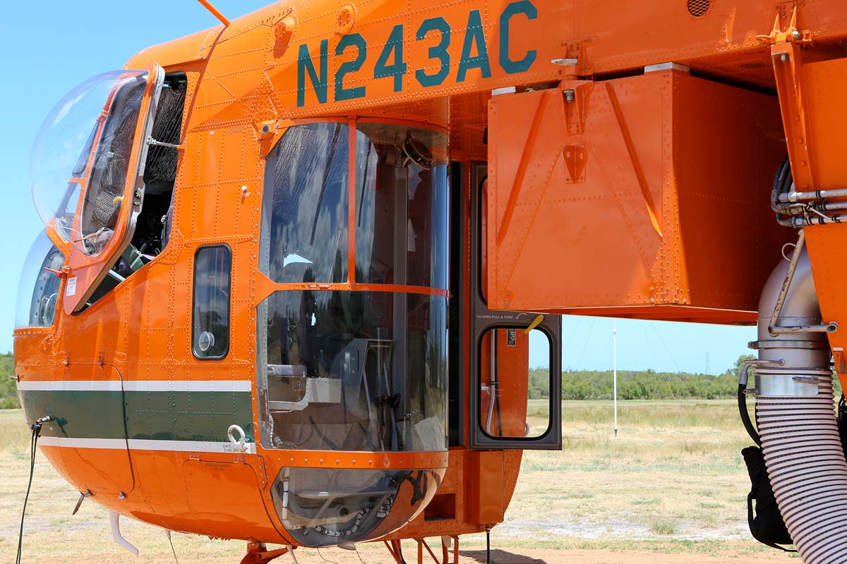"N243AC / HELITAC741 Sikorsky S-64E Skycrane (cn 64022), named ""Marty"", owned by Erickson Air-Crane, on contract to DFES (Department of Fire & Emergency Services) at Serpentine Airfield (YSEN) – Thu 2 January 2014. Photo © Matt Hayes"
