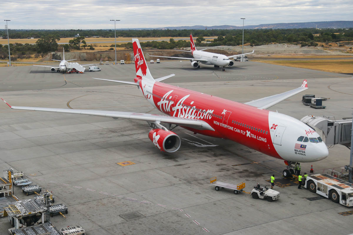 9M-XXP Airbus A330-343X (MSN 1481) of AirAsia X, at Perth Airport - Fri 24 January 2014. Photo © David Eyre