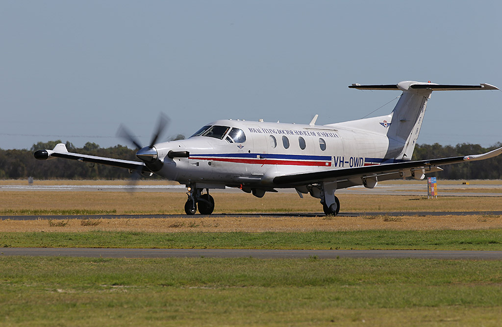 VH-OWD Pilatus PC-12/47E (MSN 1140) of the Royal Flying Doctor Service of Australia (Western Operations), at Jandakot Airport - Sun 26 January 2014. Photo © Keith Anderson