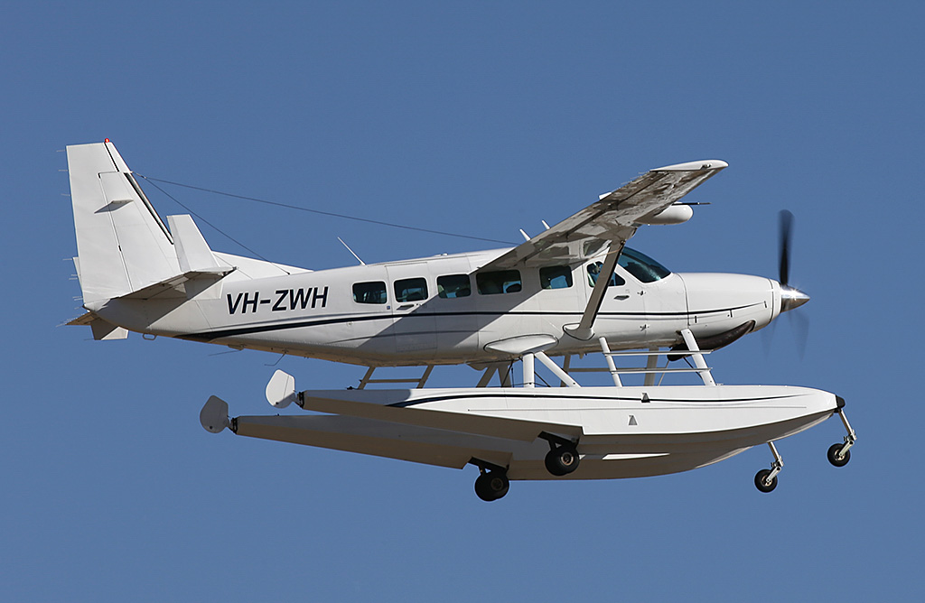 VH-ZWH Cessna 208 Caravan I amphibious floatplane (MSN 20800399) of Avwest Pty Ltd at Jandakot Airport – Sun 26 January 2014. Photo © Keith Anderson