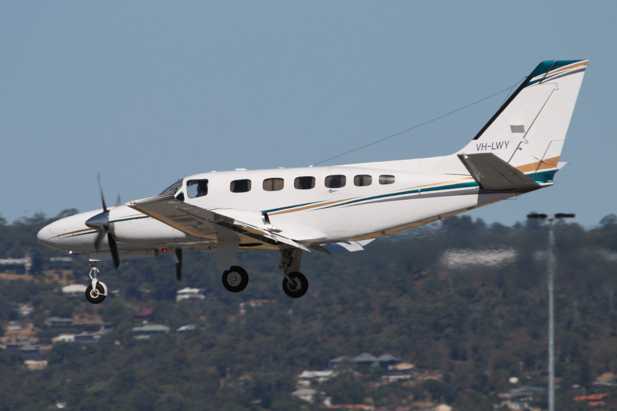 VH-LWY Cessna 441 Conquest (MSN 441-0262) of Caper Pty Ltd at Perth Airport - Mon 3 February 2014. Photo © David Eyre