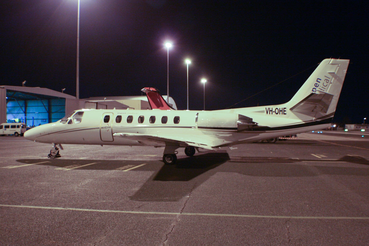 VH-OHE Cessna 560 Citation V (MSN 560-0320) of Corporate Aircraft Charter Pty Ltd, operated by Aspen Medical at Perth Airport – Thu 6 February 2014. Photo © Wilson