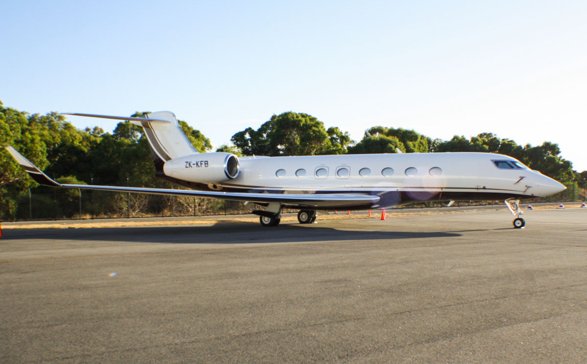 ZK-KFB Gulfstream Aerospace G-650 (MSN 6043) of Execujet New Zealand Ltd, at Perth Airport – Thu 6 February 2014. Photo © Wilson