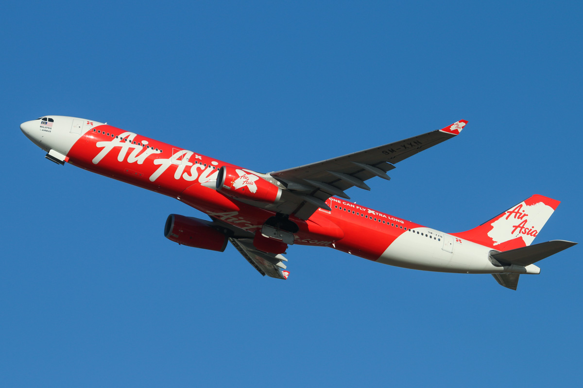 9M-XXN Airbus A330-343X (MSN 786) of AirAsia X (leased from ILFC) at Perth Airport - Fri 7 February 2014. Photo © David Eyre