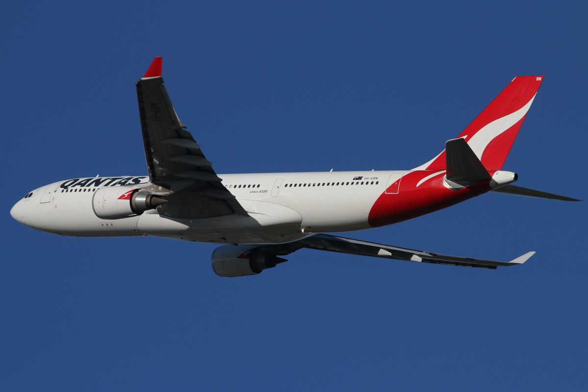 "VH-EBN Airbus A330-202 (MSN 1094) of Qantas, named ""Clare Valley"" at Perth Airport - Fri 7 February 2014. Photo © David Eyre"