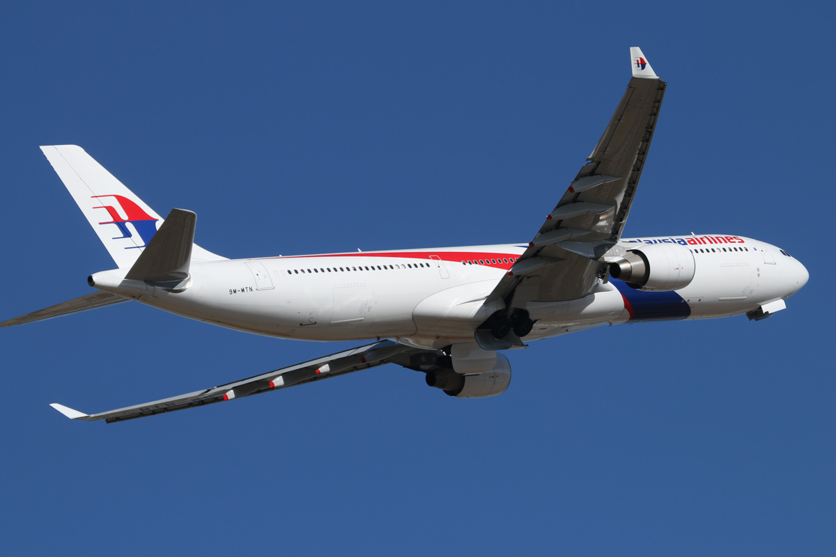 9M-MTN Airbus A330-323X (MSN 1470) of Malaysia Airlines at Perth Airport - Tue 11 February 2014. Photo © David Eyre