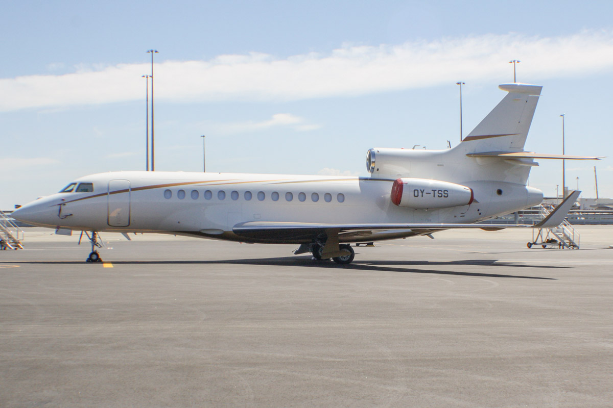 OY-TSS Dassault Falcon 7X (MSN 098) owned by Air Alsie at Perth Airport – Tue 11 February 2014. Photo © Wilson