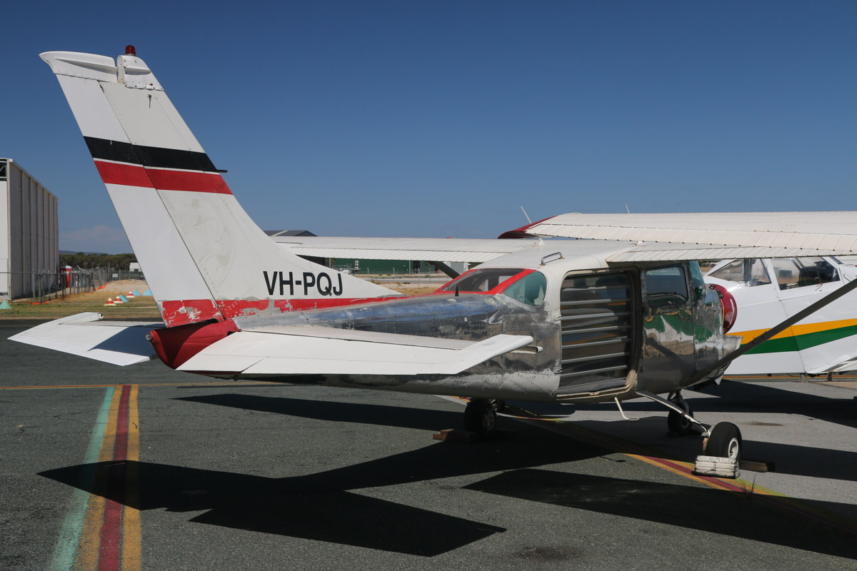 VH-PQJ Cessna U206F Stationair (MSN U20602245) owned by Marshall Power, Leschenault, WA, (operated by Southern Skydivers), at Jandakot Airport - Tue 11 February 2014. Photo © David Eyre