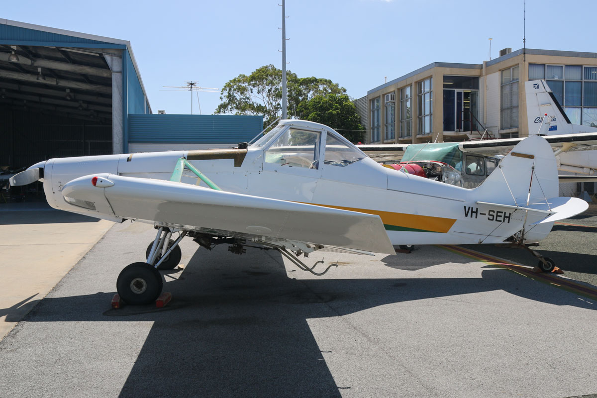 VH-SEH Piper PA-25-235 Pawnee D (MSN 25-7405565) owned by Westside Aerial Services Pty Ltd of Hyden, WA, at Jandakot Airport - Tue 11 February 2014. Photo © David Eyre