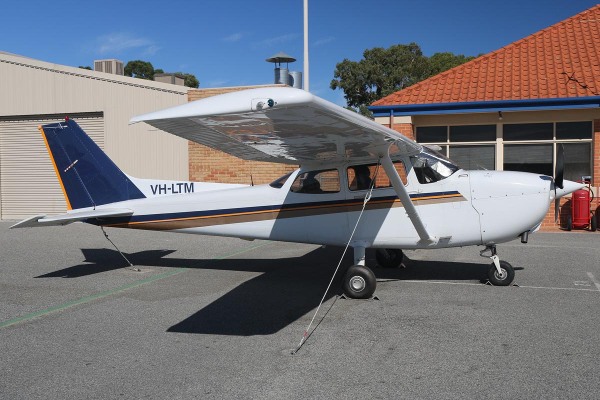VH-LTM Cessna 172R Skyhawk (MSN 17281148) owned by Singapore Flying College Pte Ltd (no titles), at Jandakot Airport – Sat 22 February 2014. Photo © David Eyre