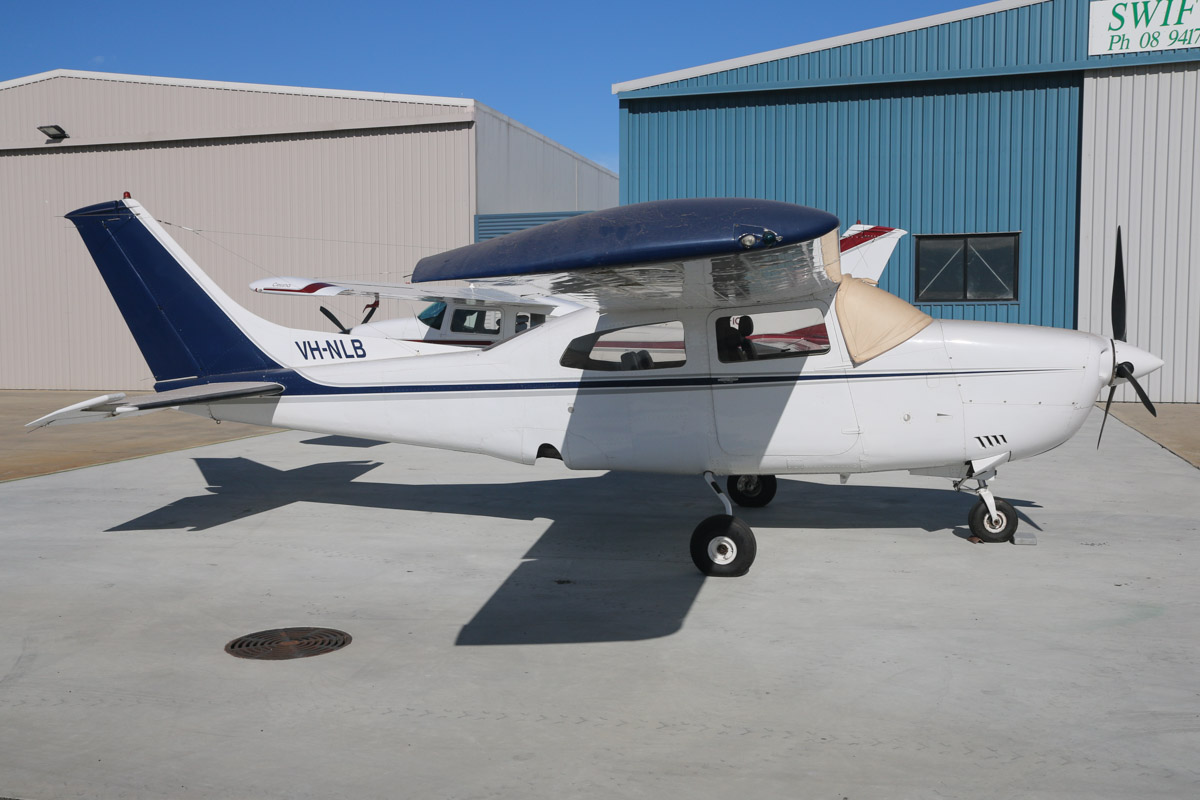 VH-NLB Cessna 210K Centurion (MSN 21059371) owned by Haydn Collins, at Jandakot Airport – Sat 22 February 2014. Photo © David Eyre