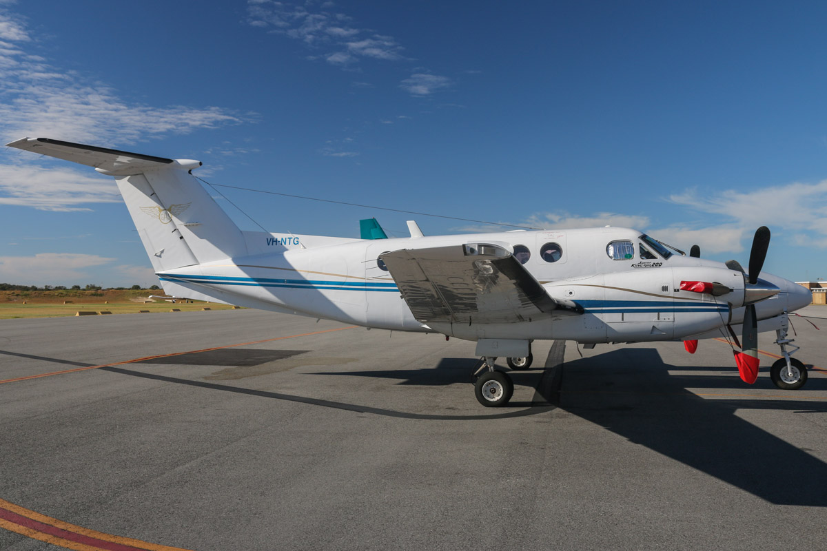 VH-NTG Beech 200C Super King Air (MSN BL-9) of Goldfields Air Services (Texrio Pty Ltd), leased from Formula Aviation, at Jandakot Airport – Sat 22 February 2014. Photo © David Eyre