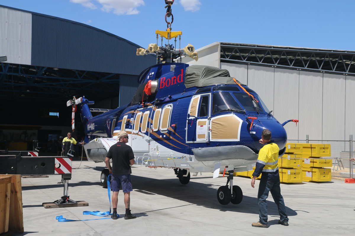 VH-NWG Airbus Helicopters EC225LP (MSN 2879) of Bond Helicopters Australia Pty Ltd at Jandakot Airport – Sat 22 February 2014. Photo © David Eyre