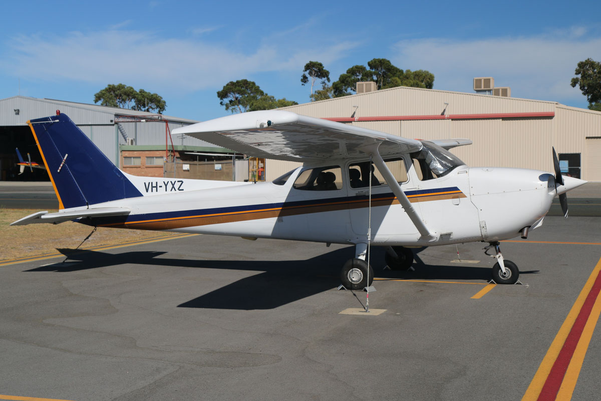 VH-YXZ Cessna 172R Skyhawk (MSN 17280885) owned by Singapore Flying College Pte Ltd (no titles), at Jandakot Airport – Sat 22 February 2014. Photo © David Eyre