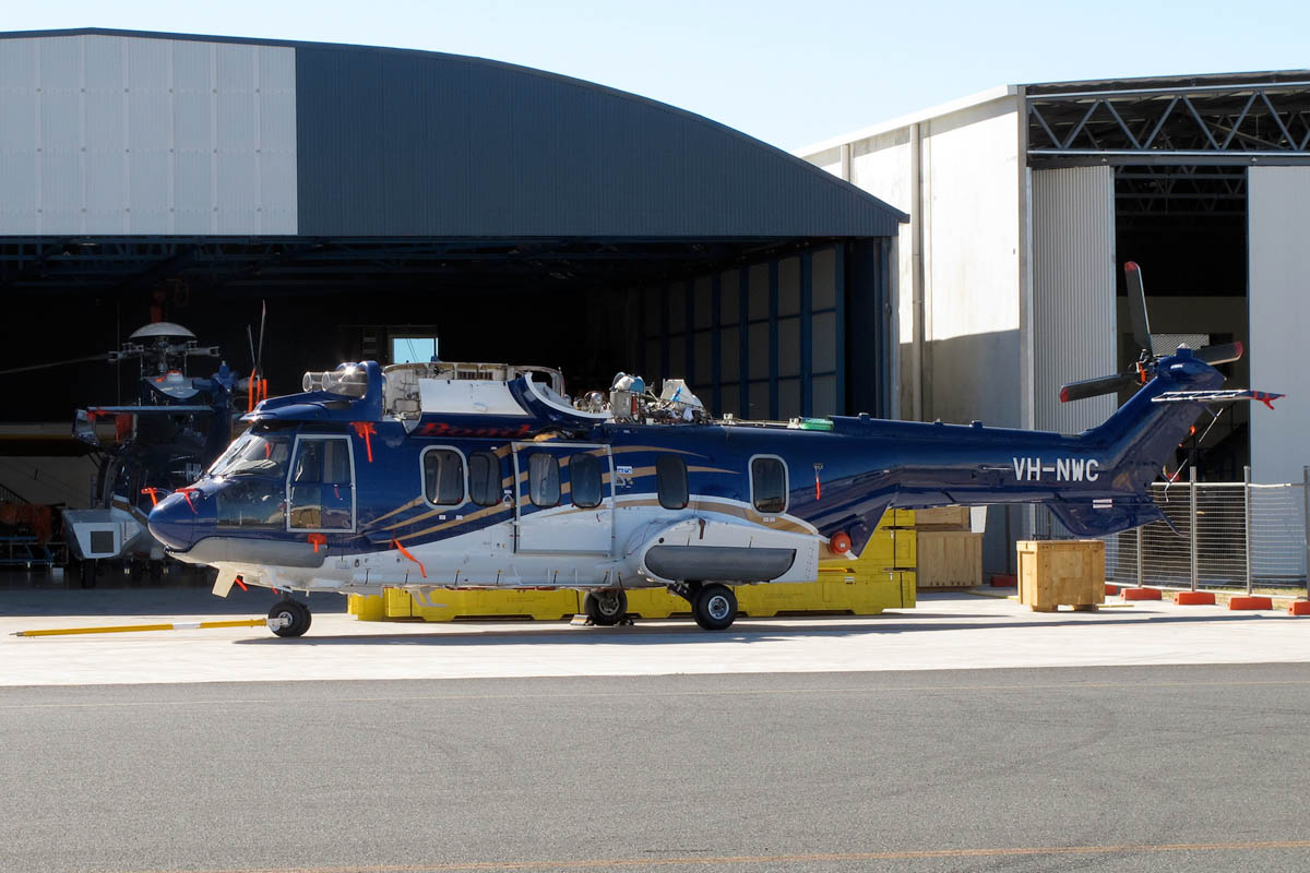 VH-NWC Airbus Helicopters EC225LP (MSN 2826) of Bond Helicopters Australia Pty Ltd at Jandakot Airport – Sat 1 March 2014. Photo © Matt Hayes