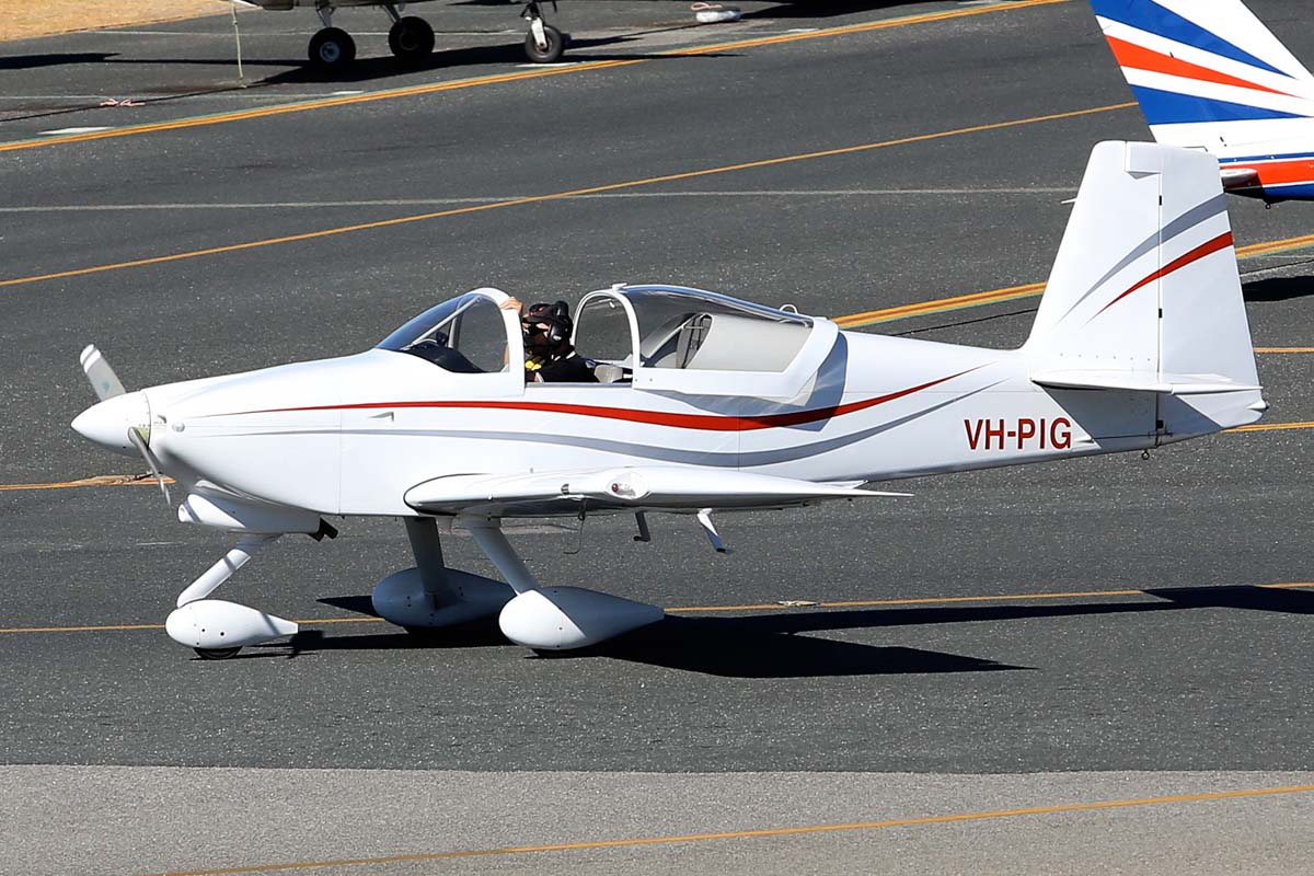 VH-PIG Vans RV-7A (MSN 72266) owned by Daniel Ledermann, at Jandakot Airport - Sat 1 March 2014. Photo © Matt Hayes