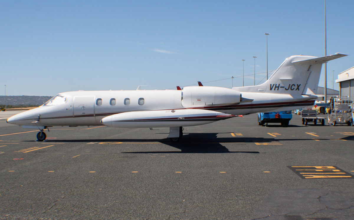 VH-JCX Gates Learjet 36A (MSN 35-057) owned by Jet City Pty Ltd at Perth Airport - Fri 7 March 2014. Photo © Wilson