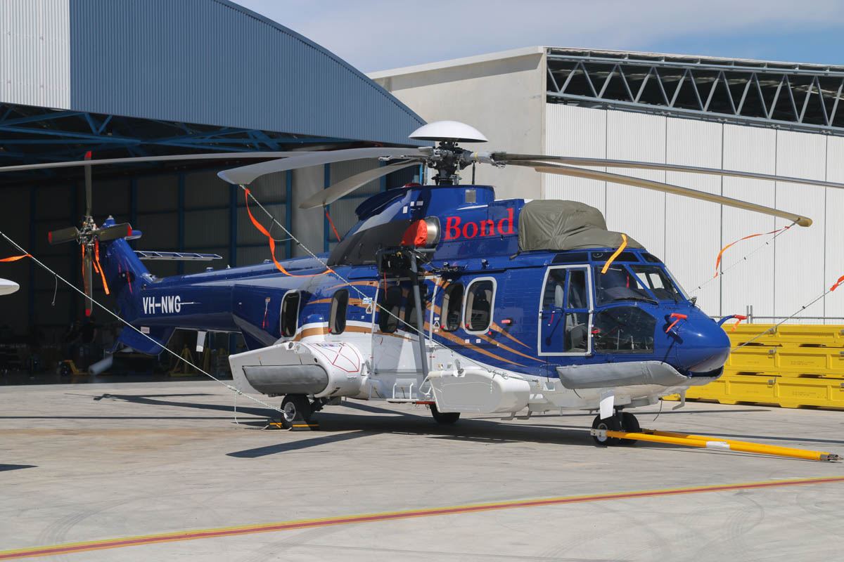 VH-NWG Airbus Helicopters EC225LP (MSN 2879) of Bond Helicopters Australia Pty Ltd at Jandakot Airport – Mon 17 March 2014. Photo © David Eyre