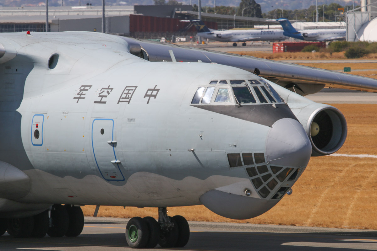 20541 Ilyushin IL-76MD (MSN 0083486570) of the Peoples Liberation Army Air Force (PLAAF), 13th Transport Division, 39th Air Regiment, Dangyang, China, at Perth Airport – Sat 22 March 2014. Photo © David Eyre