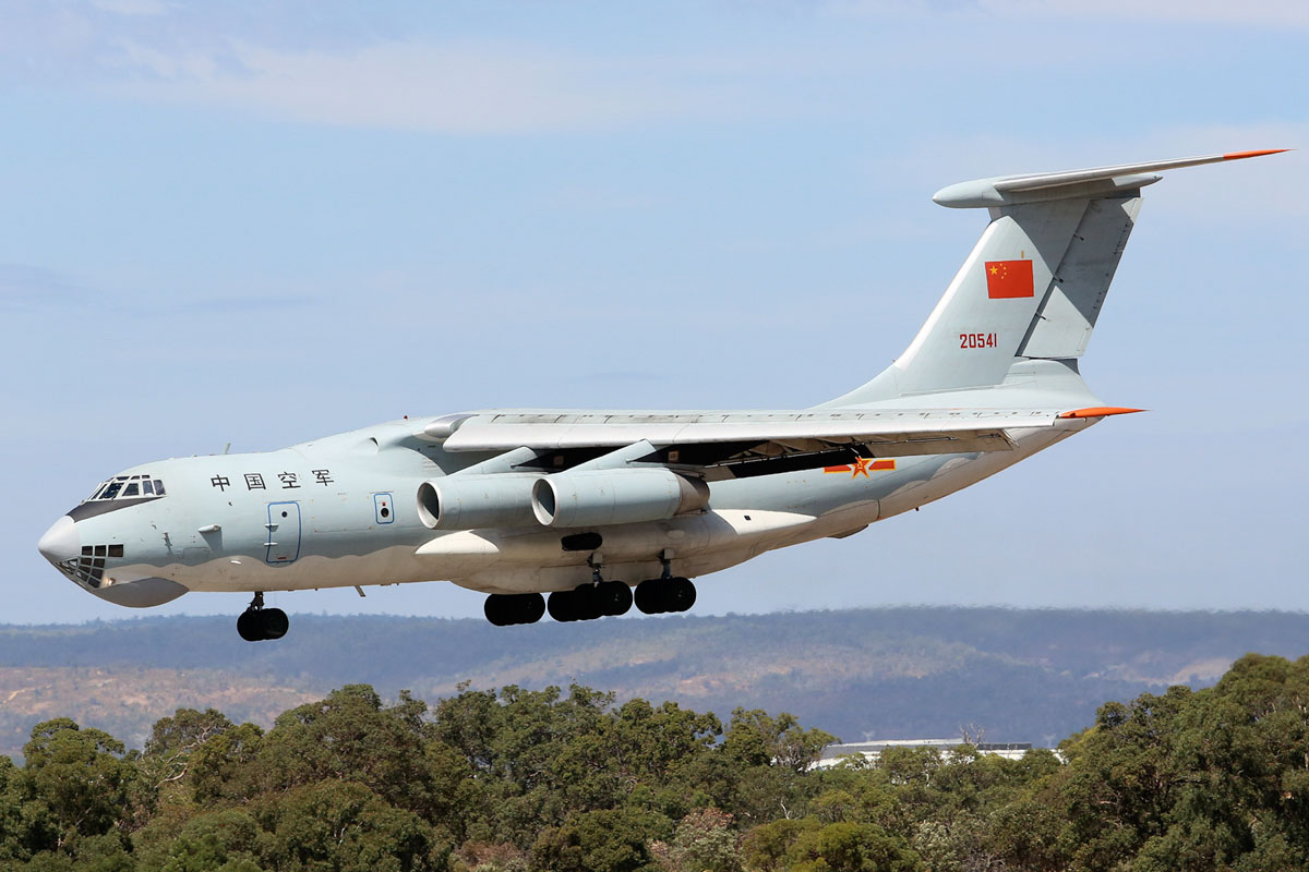 20541 Ilyushin IL-76MD (MSN 0083486570) of the Peoples Liberation Army Air Force (PLAAF), 13th Transport Division, 39th Air Regiment, Dangyang, China, at Perth Airport - Sat 22 March 2014. Photo © Matt Hayes