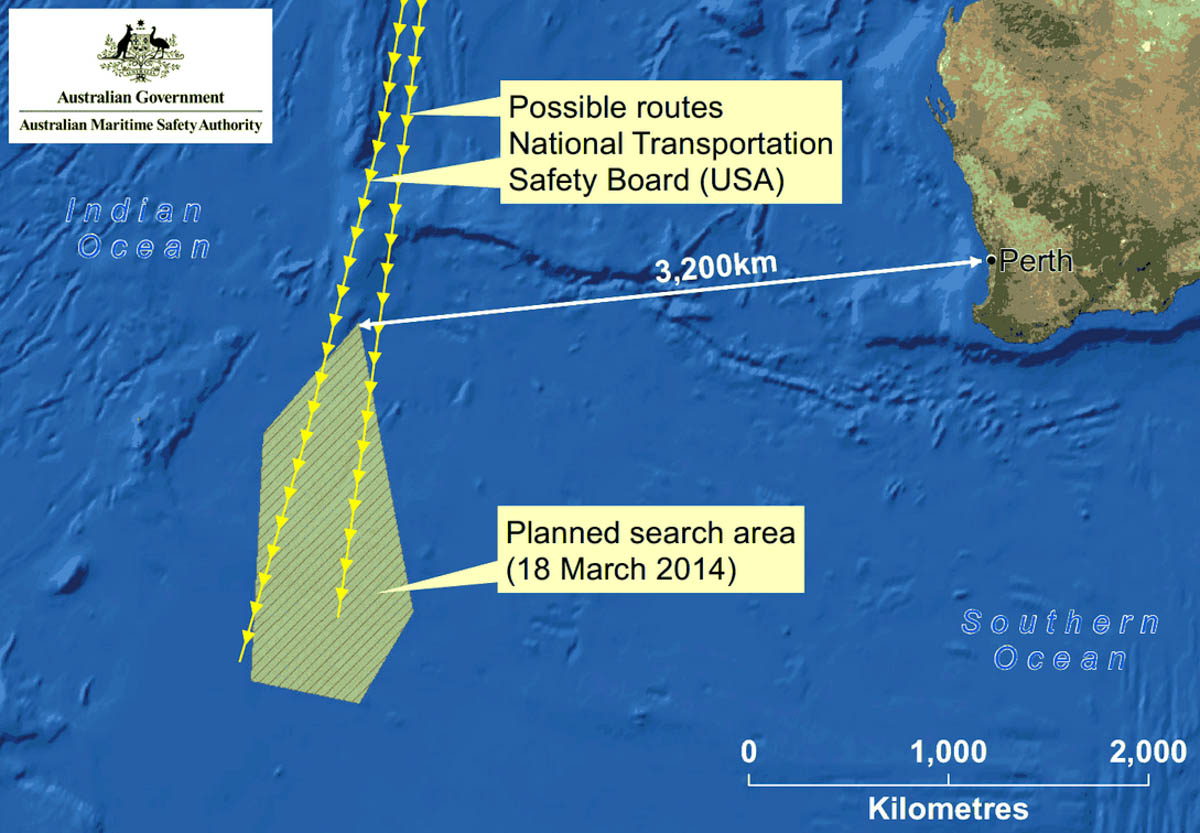 AMSA MH370 search area - 18 March 2014-1