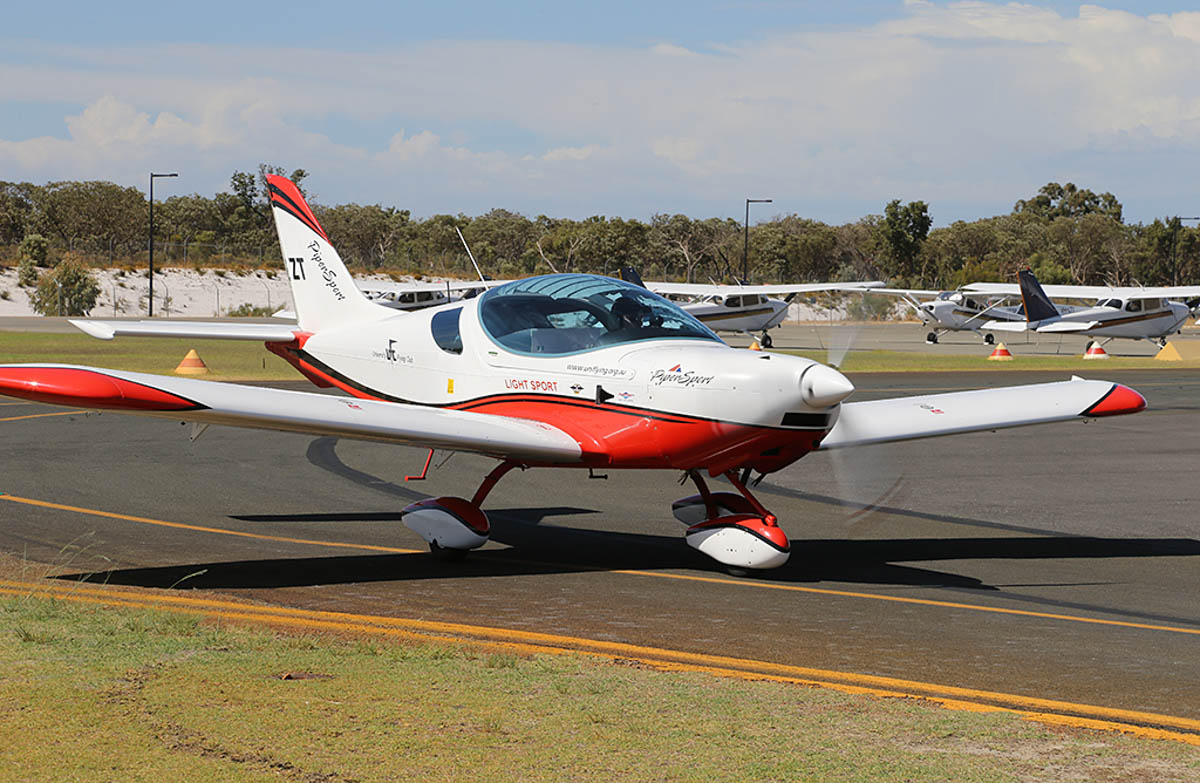 VH-EZT Czech Sport Aircraft PiperSport (MSN P1001085) of University Flying Club (Inc) at Jandakot Warbirds Aircraft Display Day, at Jandakot Airport - Sun 23 March 2014. Photo © Keith Anderson