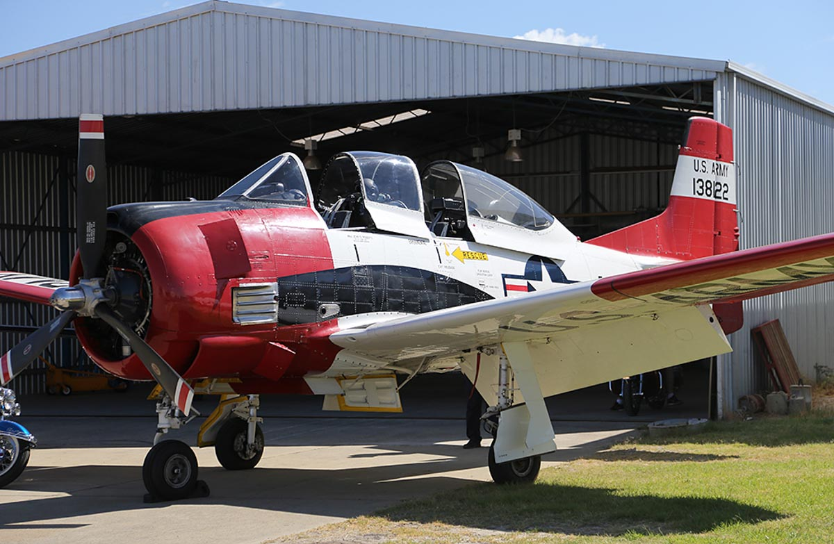 VH-FNO / 138122 North American T-28B Trojan (MSN 200-193) owned by Dunkel Aviation Pty Ltd, at Jandakot Warbirds Aircraft Display Day, at Jandakot Airport - Sun 23 March 2014. Photo © Keith Anderson