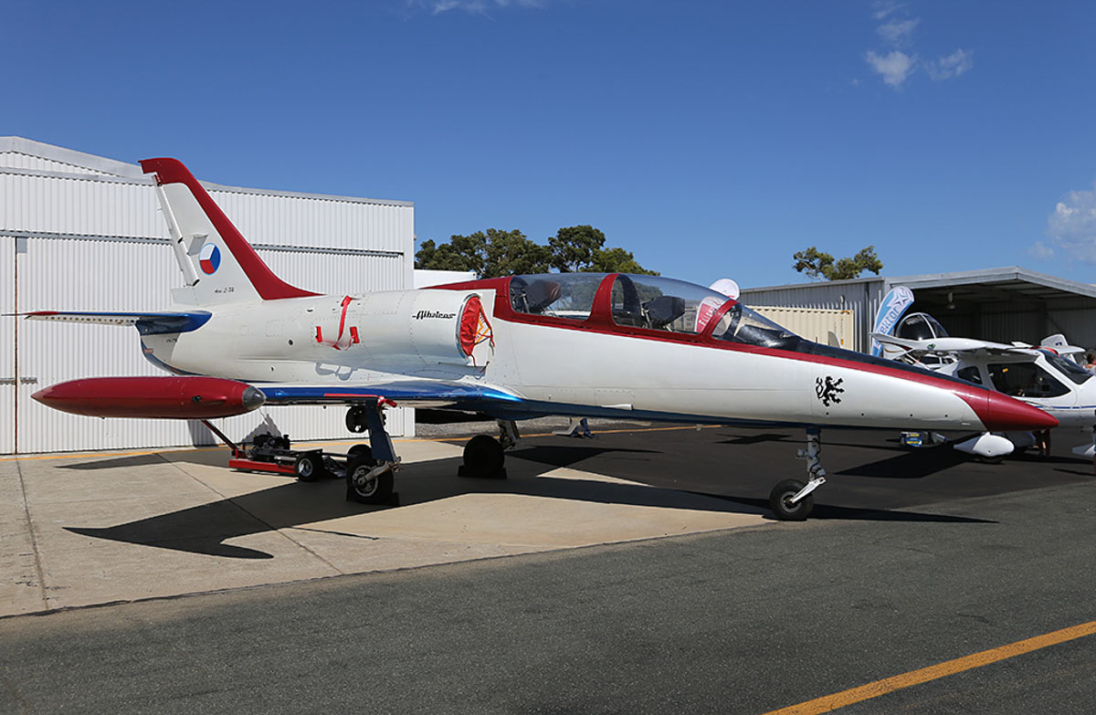 VH-ITN Aero Vodochody L-39C Albatros (MSN 630638) of Westcoast Jet Fighters (HFAT Pty Ltd) at Jandakot Warbirds Aircraft Display Day, at Jandakot Airport - Sun 23 March 2014. Photo © Keith Anderson