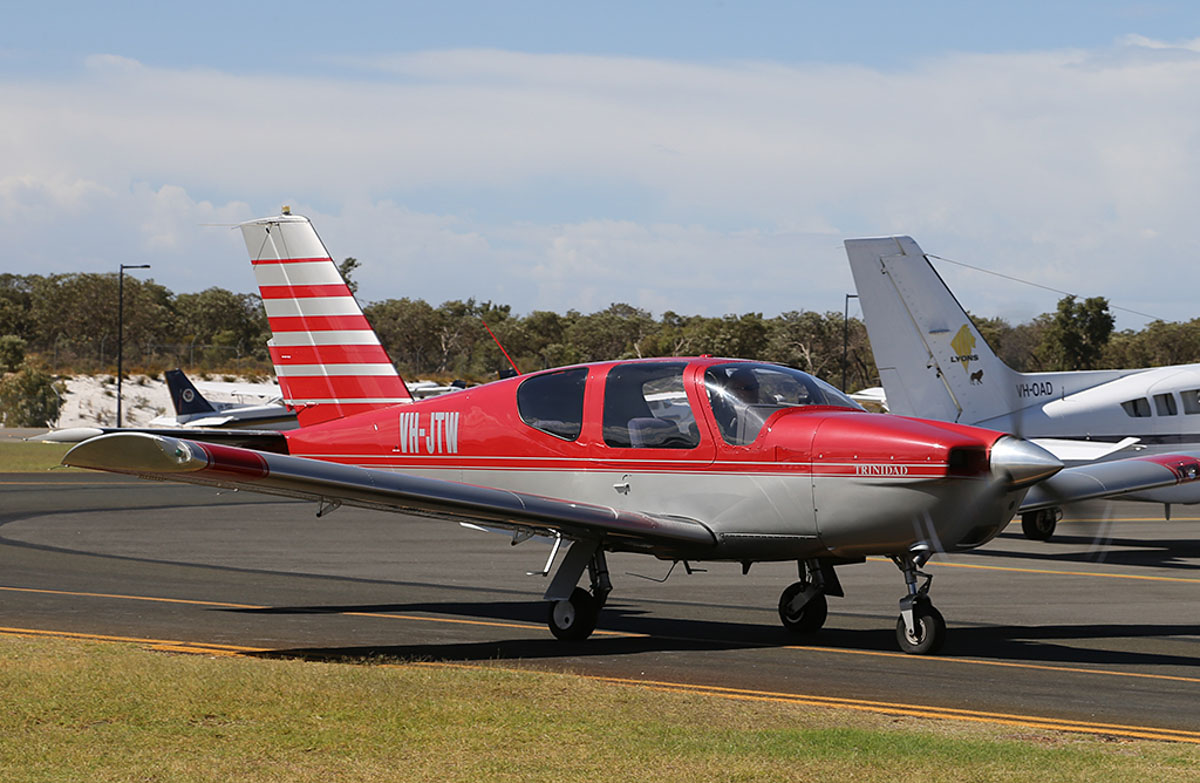 VH-JTW SOCATA TB-20 Trinidad (MSN 448) owned by Questair Pty Ltd, at Jandakot Warbirds Aircraft Display Day, at Jandakot Airport - Sun 23 March 2014. Photo © Keith Anderson